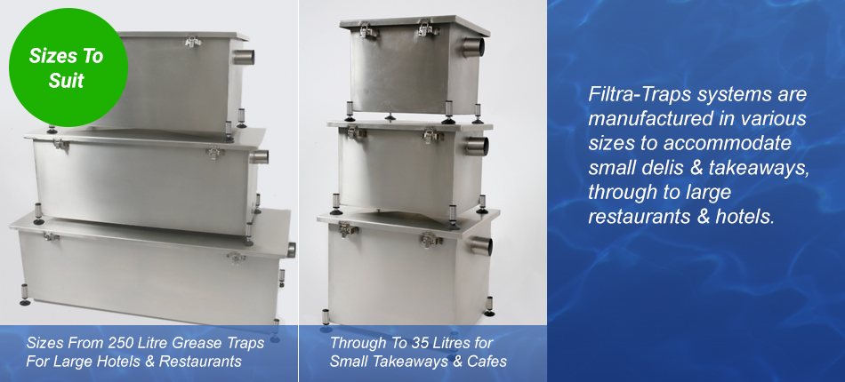 Grease trap filtra stainless steel traps